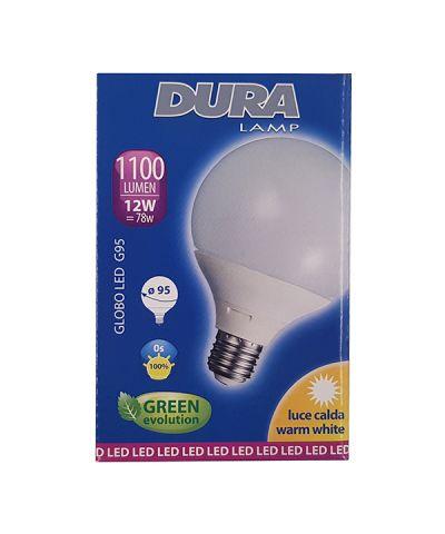 LAMPADA LED GLOBO 15 WATT 1290 lm Cm.9,5 E27 LUCE CALDA